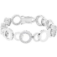 Circle Bijoux Silvertone Bracelet