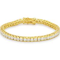 Debutante Goldtone Tennis Bracelet