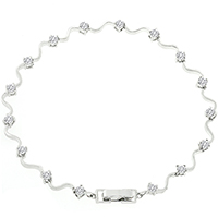 Elegant Eternity Clear Bracelet