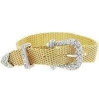 Gold Buckle Belt Bracelet