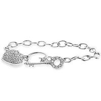 Heart and Key Bracelet