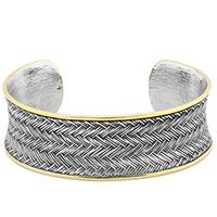 Two Tone Bracelet Cuff
