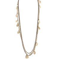 Gold Leaf and Chain Necklace