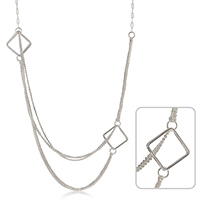 Linked Squared Charms Necklace