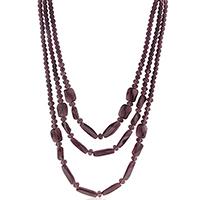 Purple Three Row Necklace