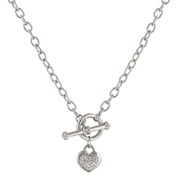 Speckled Heart Charm Necklace