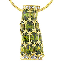 Amazon Green Golden Pendant