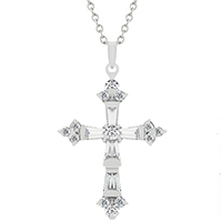 Brilliant CZ Cross Pendant