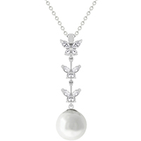 Butterfly Pearl Charm Pendant