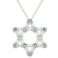 CZ Star Of David Pendant