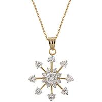 Golden Snowflake Drops Pendant
