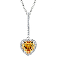 Heart Pop Champagne Pendant
