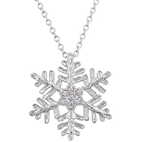 Large Snowflake Inspired Pendant