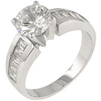 Antoinette Silver Engagement Ring
