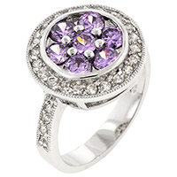Beijing Lily Amethyst Ring