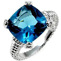 Blue Seduction Engagement Ring