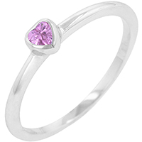Bonded Heart Solitaire Ring