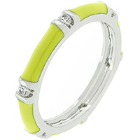 Bright Enamel Stacker Ring