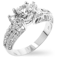 Brilliance Clear Engagement Ring