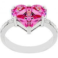 Budding Heart Engagement Ring