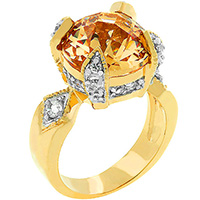 Champagne Brilliance Tutone Ring