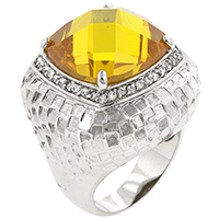 Citrine Dome Yellow Ring