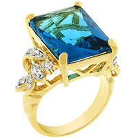 Cocktail Chic Blue Ring