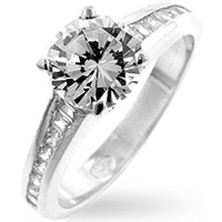 CZ Clear Engagement Ring
