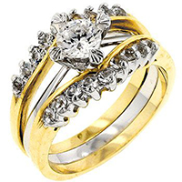 Double CZ Anniversary Ring