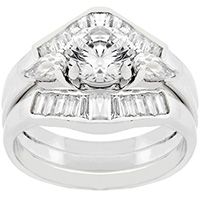 Engagement Triplet Silver Ring
