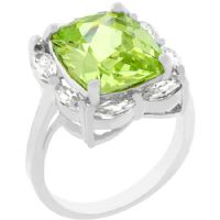 Green Ice Apple Ring