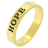 Hope Stamped Goldtone Ring