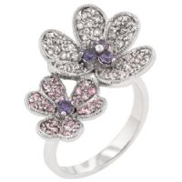 Iridescence Flower Cocktail Ring