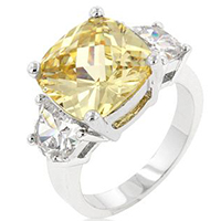 Jonquil Triplet Classic Ring