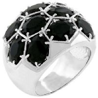 Midnight Dome Black Ring