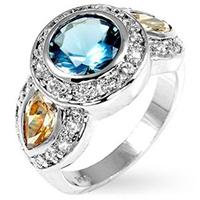 Neptune Aqua Engagement Ring