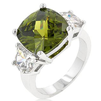 Olive Triplet Classic Ring