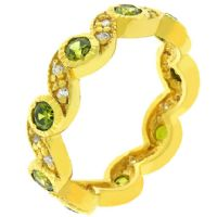 Olive Waves Eternity Ring