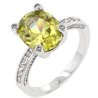 Peridot Anniversary Silver Ring
