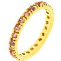 Pink Ice Eternity Ring