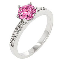 Petite Engagement Silver Ring