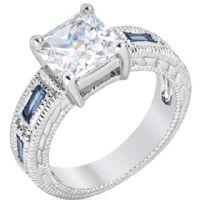 Princess Donna Sapphire Ring