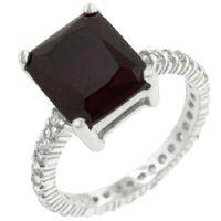Princess Ruby Engagement Ring
