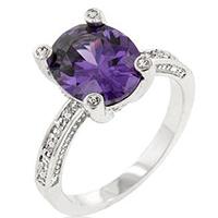 Purple Anniversary Silver Ring