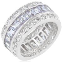 Triple Row Baguettes Ring