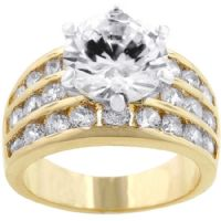Triple Rows Engagement Ring