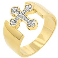 Tutone Criss Cross Ring