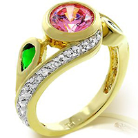 Twisting Blossom Nature Ring