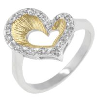 Two Toned Heart Ring
