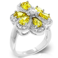 Yellow Daisy Floral Ring